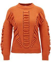 BOSS by Hugo Boss Casual Ikara Knitted Sweater - Orange