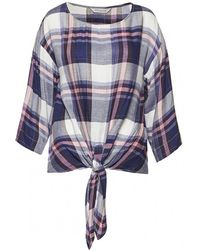 Great Plains - Charlotte Check Knot Detail Womens Top - Lyst