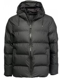 Rains Mens Puffer Jacket - Black