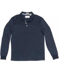 Original Penguin Long Sleeve Pieced Polo Shirt - Blue