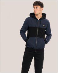 Calvin Klein Mix Media Zip Through Jacket - Black