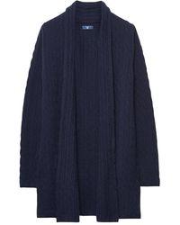 GANT Cable Wrap Ladies Cardigan - Blue