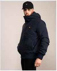 Lyle & Scott Quilted Bomber Jacket - Blue