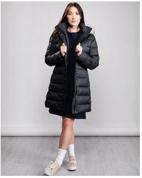 Tommy Hilfiger Essential Tyra Down Fur Coat - Black