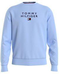 Tommy Hilfiger Stacked Tommy Flag C Sweatshirt - Blue
