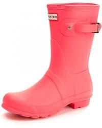 HUNTER Original Short Wellington Boots (wfs2000rma) - Pink