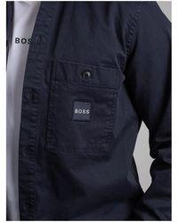 BOSS by HUGO BOSS Locky Shirt Jacket - Blue