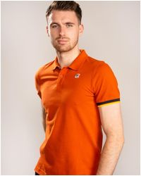 K-Way Vincent Contrast Polo - Orange