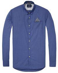 Scotch & Soda Classic Longsleeve Fixed Pocket Shirt - Blue