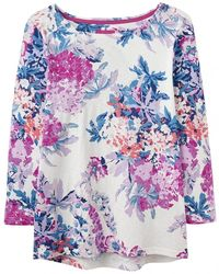 Joules Harbour Light Print Printed Lightweight Jersey Top S/s - Multicolour