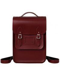Cambridge Satchel Company Portrait Backpack - Oxblood - Multicolour