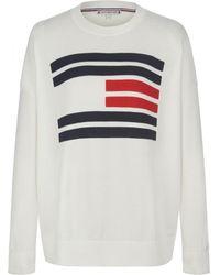 Tommy Hilfiger Essential Flag Jumper - White