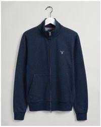 GANT Original Full Zip Cardigan - Blue