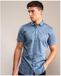 BOSS by Hugo Boss Magneton 1 Short Sleeve Shirt - Blue
