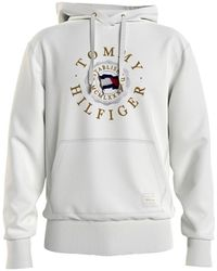 Tommy Hilfiger Icon Coin Hoodie - White