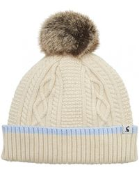 Joules Anya Bobble Hat S/s - Natural