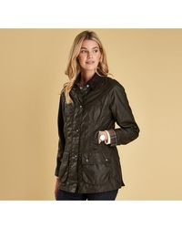 Barbour Classic Beadnell Ladies Wax Jacket - Green