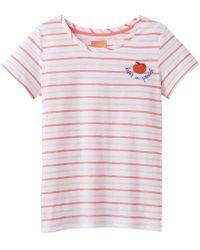 Joules Nessa Emb Womens Lightweight Jersey T-shirt S/s - Pink