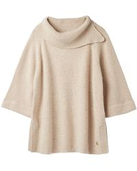Joules Sarah Knitted Poncho A/w - Brown