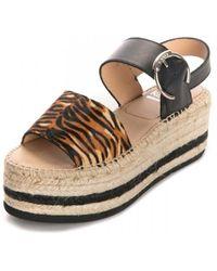 Kanna Ana Pony Platfrom Sandals - Multicolour