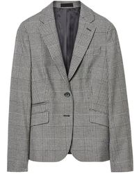 GANT Glen Check Ladies Blazer - Grey