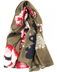 Joules Hampton Womens Large Printed Scarf S/s - Multicolour