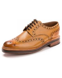 Grenson Archie Brogue Tan Shoe - Brown