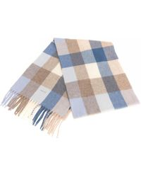 GANT Multicheck Lambswool Womens Scarf - Blue