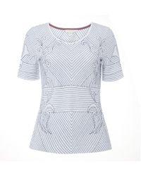 White Stuff - Tali Emb Stripe Jersey Womens Tee - Lyst