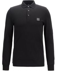 BOSS by HUGO BOSS Regular Fit Piqué Polo Shirt With Quick-dry Technology - White