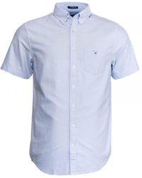 GANT The Oxford Shirt Reg Ss Bd Shirt - Blue