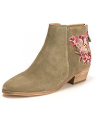 fashion style exquisite design save up to 80% Langham Floral Suede Womens Ankle Boot With Embroidery (z)