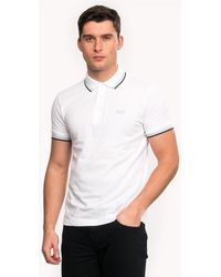 BOSS Athleisure Paddy Regular Fit Three Button Mens Polo Shirt - White