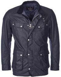 Barbour Duke Wax Jacket - Blue