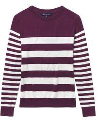 Crew Breton Knit Ladies Jumper (aw16) - Purple