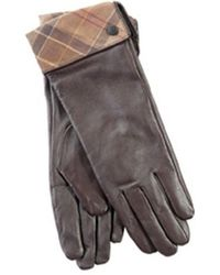 Barbour Lady Jane Leather Glove - Gray