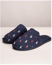 Ralph Lauren Jersey Kollin Slippers - Blue