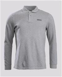 Barbour Long Sleeve Polo Shirt - Grey