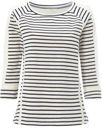 White Stuff - Lace Stripe Womens Jersey Tee - Lyst