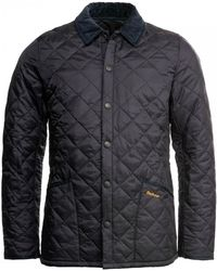 Barbour Heritage Liddesdale Quilted Mens Jacket - Blue