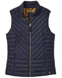 Joules Brindley Womens Chevron Quilted Gilet S/s