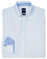 Crew Dunham Oxford Mens Shirt - Blue