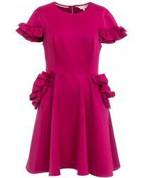 Ted Baker Ruffle Detail Skater Dress - Pink