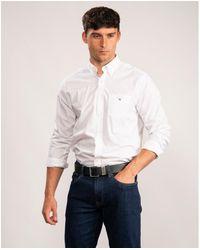 GANT The Broadcloth Regular Button Down Shirt - White