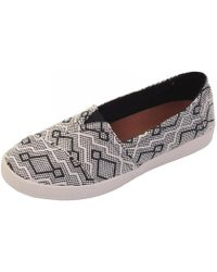 TOMS - Avalon Black Diamond Jacquard Womens - Lyst