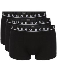 BOSS Athleisure Athleisure 3 Pack Trunks - Black