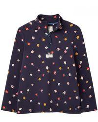 Joules Pip Print Casual Half Zip Sweatshirt - Blue