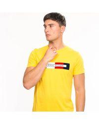 Tommy Hilfiger Box Rwb Logo Tee - Yellow
