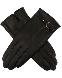 Dents Strap And Snaffle Ladies Glove - Black