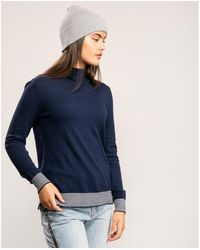 Joules Knitted Roll Neck Jumper - Blue